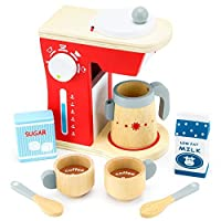 Wood Eats! Good Mornings Coffee Maker Playset with Milk and Sugar (10pcs.) by Imagination Generation [並行輸入品]