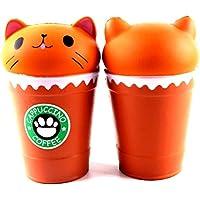 neband 1 pc Squishyコーヒーカップ猫、Slow Rising香りつきの応力Relieverソフトおもちゃコレクションギフト子供大人