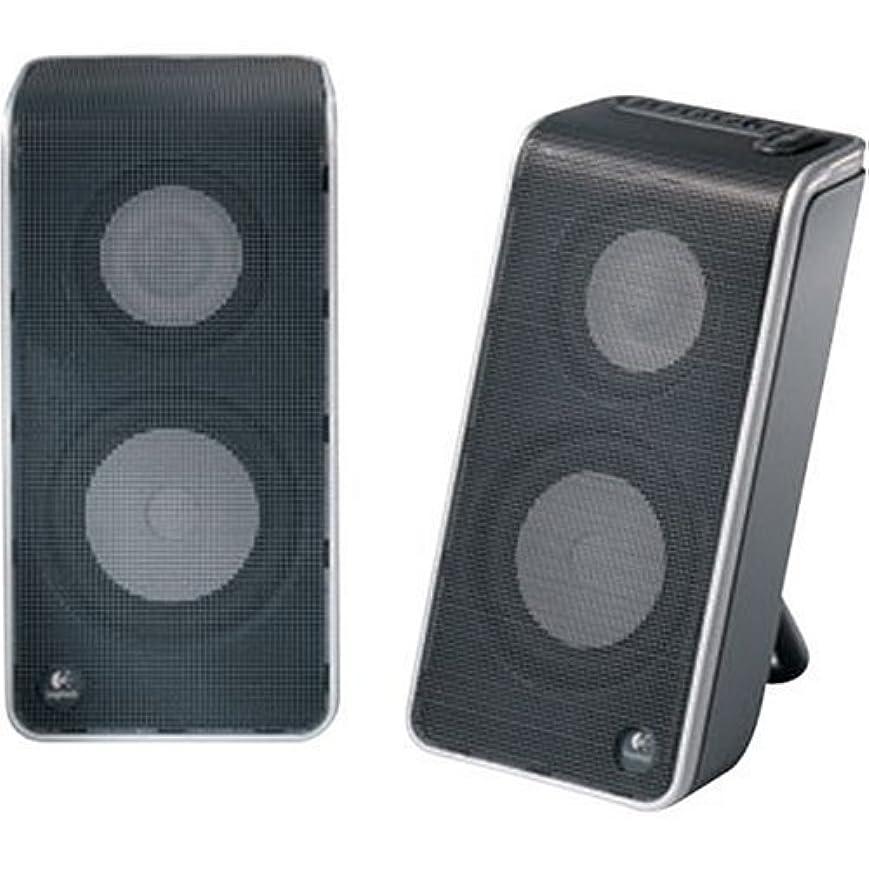 来てこしょう調整Logitech V20 Notebook Speakers (Black) [並行輸入品]