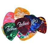BSmusicギターピック×18枚 セット それぞれ厚さ カラフル 多種多色 (18枚)