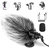Neewer CM14 Mic Phone Mic on-Camera Video Microphone with Shock Mount, Windscreen and Audio Cables Compatible with Android Smartphones/DSLR Cameras/Camcorders(Adapter for iPhone Not Included)