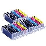 【15本セット】 キヤノン用 BCI-351XL+350XL/5MP   ICチップ付  【5色パックが3個のセット】 増量版   【互換インクカートリッジ】 対応機種:PIXUS MG5530 / PIXUS MG5430 / PIXUS MX923 / PIXUS iP7230 / PIXUS MG7130 / PIXUS MG6530 / PIXUS MG6330 インクのチップスオリジナル