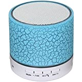 Bluetooth Speaker USB Music Sound Box Subwoofer with Mic Wireless Speaker (Support TF Card)-Blue