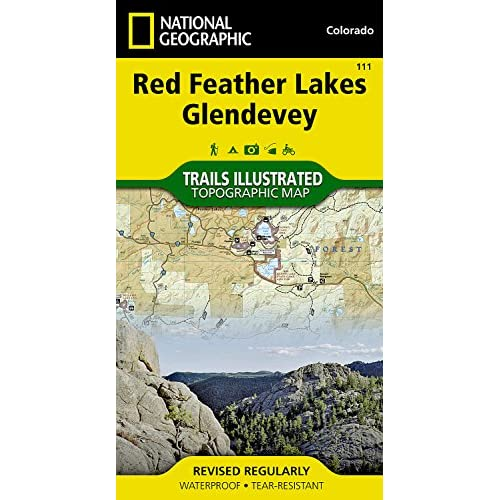 National Geographic Trails Illustrated Map Red Feather Lakes / Glendevey: Colorado