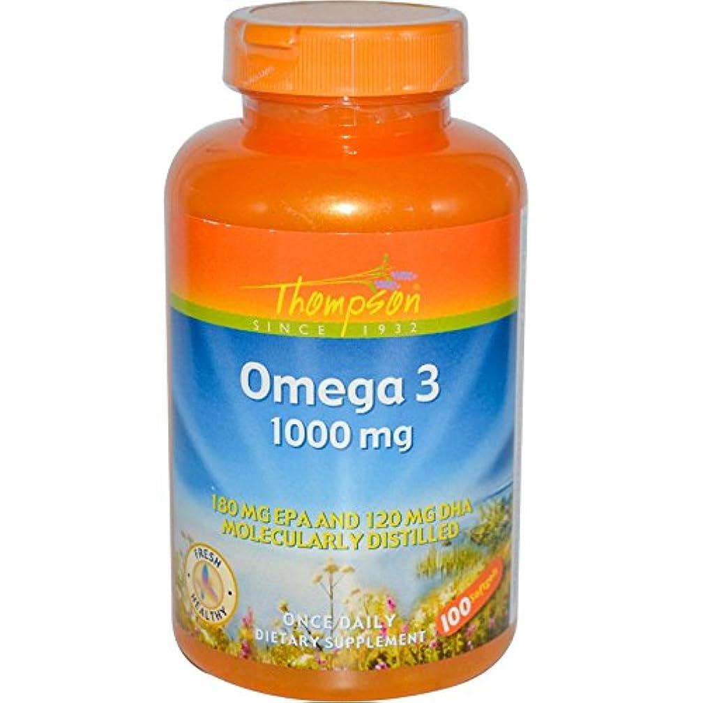 好意的黙馬力海外直送品 Thompson Nutritional Products Omega-3 Fish Oil, 100 Sftgls 1000 MG