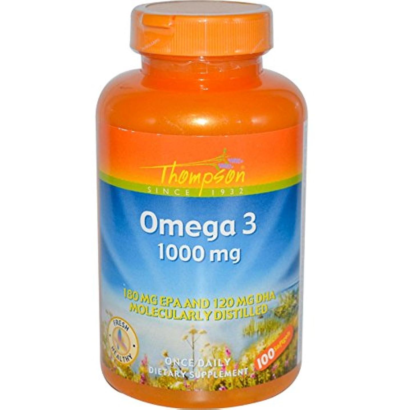 ホイッスル任命海外直送品 Thompson Nutritional Products Omega-3 Fish Oil, 100 Sftgls 1000 MG