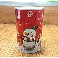 マネー バンク クリスマスマネーバンク円筒形のティンプレートは、ピギーバンク(レッドスノーマン)