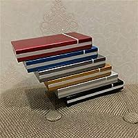 SHKRRB 女性用シガレットケース、高級シガレットケースの拡張バージョン、薄いシガレットケース20パック、ガールフレンドへの誕生日プレゼント、主要顧客、七夕ギフト、父の日ギフト (Color : Gray)