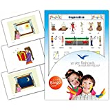 Opposites Flashcards in German Language - Flash Cards with Matching Bingo Game for Toddlers, Kids, Children and Adults - Size 4.13 × 5.83 in - DIN A6
