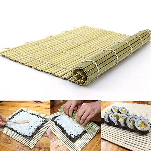 SUPERMOOM 竹製巻す 巻す 手巻き寿司 寿司ロール 竹マット 竹製(27*27cm)