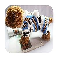 と冬のスノーフレークソフトフリース犬服ペット犬ドレスパターンサンゴベルベット鹿クリスマス子犬コート4ハ-青-XXL