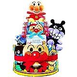 おむつケーキ [ 男の子/アンパンマン / 2段 ] パンパースM19枚 (1歳の誕生日プレゼントに大人気)3001 ダイパーケーキ ギフト ハーフバースデー にもおすすめ