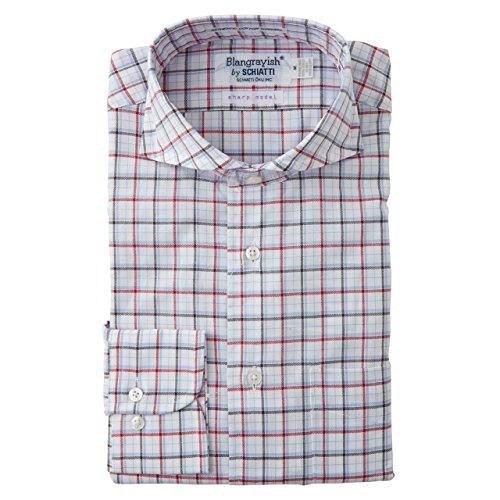 SCHIATTI(スキャッティ)Blangrayish  ホリゾンタルカラー ドレスシャツ WH/RD/BK col67 (M)