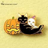 ピンズコレクションハロウィン2 (HW-02)ポタリングキャットHalloween cat pins, Pottering cat
