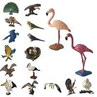 B Baosity 18pcs おもちゃ 動物モデル ミニチュア 小道具 教育玩具