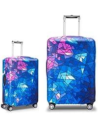 0965f1c364 gymtop-direct スーツケースカバー 伸縮弾性素材 トラベルダストカバー キャリーカバー 美人模様 スーツケース保護カバー ラゲッジカバー  通気性 傷防止…