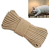 (アワンキー) Aoneky 麻縄 ジュートロープ キャットタワー ネコ 爪とぎ 爪を磨き おもちゃ 手作り DIY (直径10mm長さ20m)