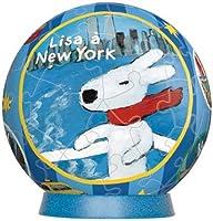 3D球体パズル リサとガスパール 60ピース ニューヨークヘ行く (直径約7.6cm)