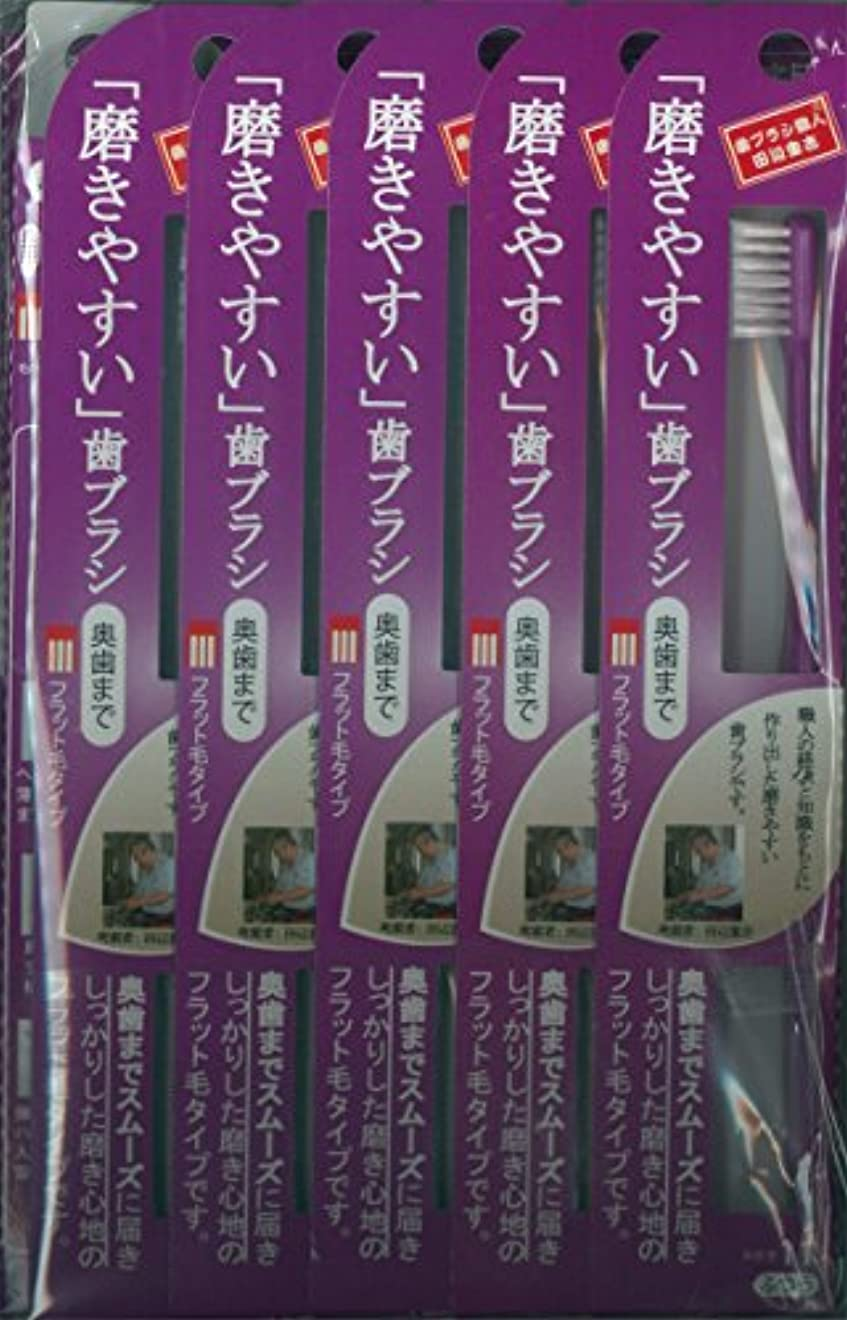エイズ失う植生磨きやすい歯ブラシ(ハの字フラット) 1P*12本入り