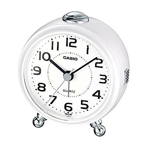 クオーツ式置き時計 TQ-149-5JF パールホワイト 1個