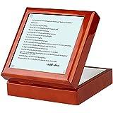 CafePress–ハリル・ジブラーンQuote–記念品ボックス、Finished Hardwoodジュエリーボックス、ベルベット裏地Mementoボックス 05966708768F734