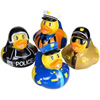 Assorted Police Law Enforcement Rubber Duckies (12) [並行輸入品]