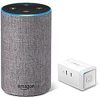 Echo 第2世代 - スマートスピーカー with Alexa、ヘザーグレー + TP-Link WiFi スマートプラグ 直差しコンセント 音声コントロール