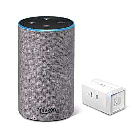 Amazon Echo (Newモデル)、ヘザーグレー (ファブリック) + TP-Link WiFi スマートプラグ 直差しコンセント 音声コントロール
