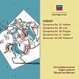 Mozart Symphonies 35, 41, 36, 38 / Posthorn Sernade