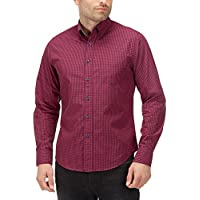 Charles Wilson Men's Long Sleeve Classic Gingham Checked Casual Shirt