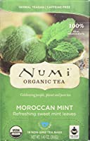 Numi Organic Tea Moroccan Mint - 18 Tea Bags - Case of 6 by Numi Tea