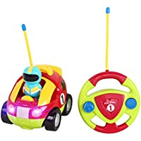 elaco RC警察Race Car Trainおもちゃ、リモートコントロールライトの音楽ラジオfor Toddlers Baby Kids Child