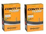 2本セット コンチネンタル Continental Compact24 チューブ 24×1 1/4-24×1.75×2(32-507/47-544) 米式バルブ (バルブ長40mm) [並行輸入品]