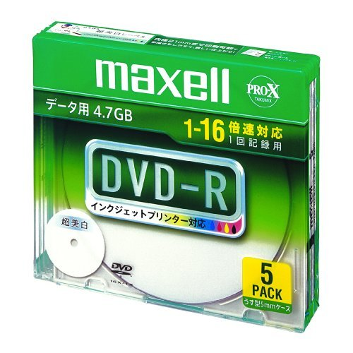 マクセル DVD-R/4.7GB  5枚入  DR47WPD.S1P5S A