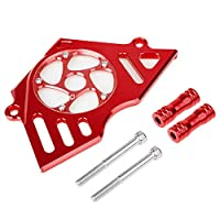 XX Ecommerce オートバイバイクアルミニウムフロントチェーン スプロケットエンジン カバー 適用車種 Honda CBR 250 250R CBR250 CBR250R (Red)