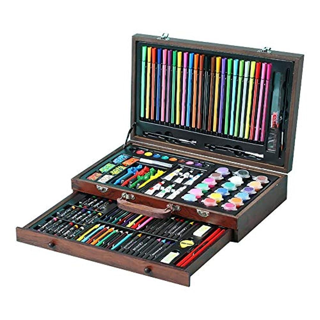体現する心理的にミリメーター木箱の絵画そしてデッサンの芸術のキットのための130部分の携帯用品は水彩絵の具オイルパステルカラー鉛筆を含みます 美しい作品を描く (Color : Natural, Size : Free size)