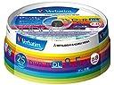 三菱ケミカルメディア Verbatim 1回記録用 DVD-R DL DHR85HP25V1 (片面2層/2-8倍速/25枚パック)