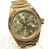 (ロレックス)ROLEX 69178G 新10Pダイヤ 金無垢 デイトジャスト レディース 腕時計 自動巻き 腕時計 K18YG レディース 中古 ()
