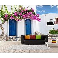 地中海スタイルの写真の壁紙の建物の壁の絵画レストランカフェの寝室の背景の壁の壁画 208x146cm