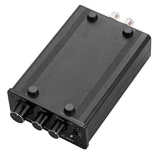 ONEU(ワンユー) Class-D級デジタルアンプ 50Wx2 ハイパワーアンプ 重低音 高品質 ミニアンプ (黒)