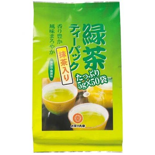 お茶の丸幸 緑茶ティーバッグ 抹茶入 50包入