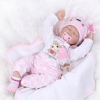 Handmade Sleeping Vinyl 22 Inch 55cm Reborn Doll Baby Girl Very Lifelike Soft Silicone Reborn Dolls Toddler Child Growth Partner Xmas Gift