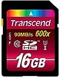 Transcend SDHCカード 16GB Class10 UHS-I 対応 (最大転送速度90MB/s) 無期限保証 TS16GSDHC10U1