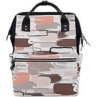 ママバッグ マザーズバッグ リュックサック ハンドバッグ 旅行用 抽象的 迷彩柄 ファション