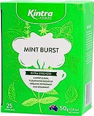 Kintra Foods Extra Strength Natural Mint Burst 25 Filter Teabags