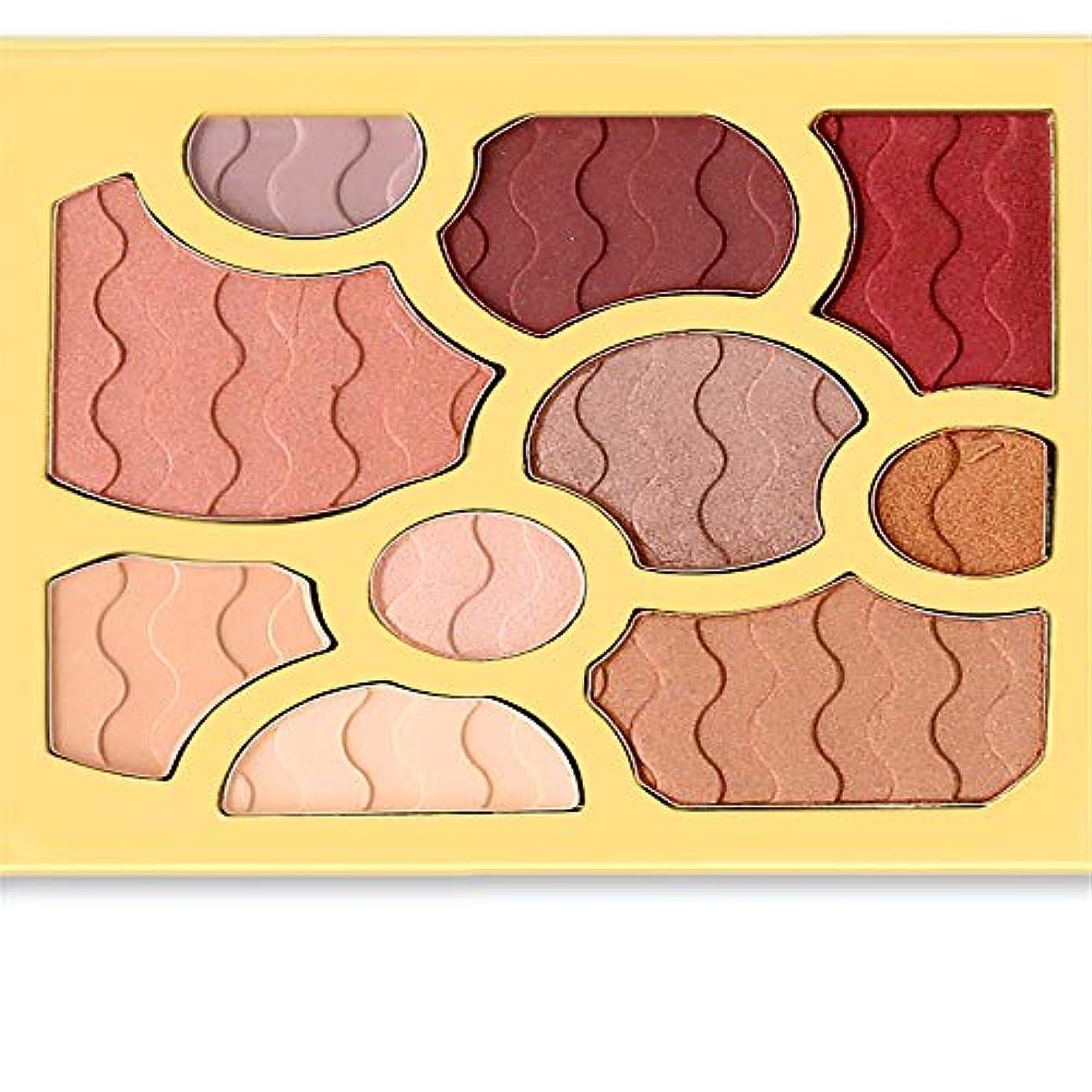どこか作り結び目10色アイシャドウワインレッドプレートアイシャドウパウダーマット化粧品メイク
