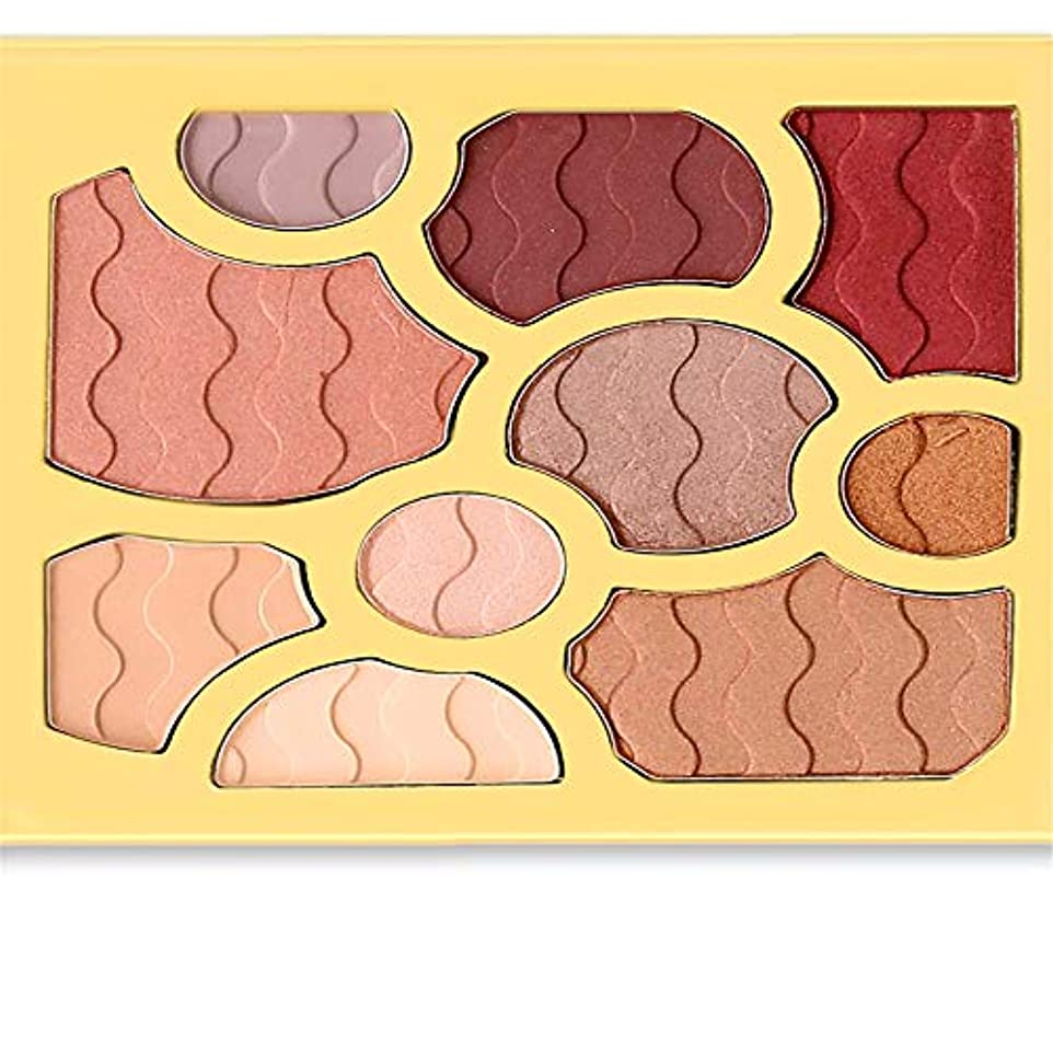 出します朝ずるい10色アイシャドウワインレッドプレートアイシャドウパウダーマット化粧品メイク