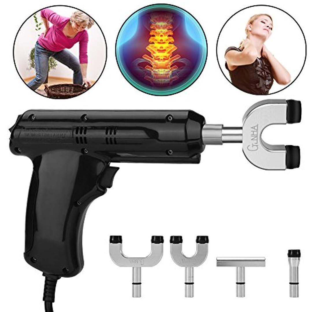 マットレス手がかり浅い電動カイロプラクター、カイロプラクター、背骨と胸郭を調整するための身体緩和ツール、黒