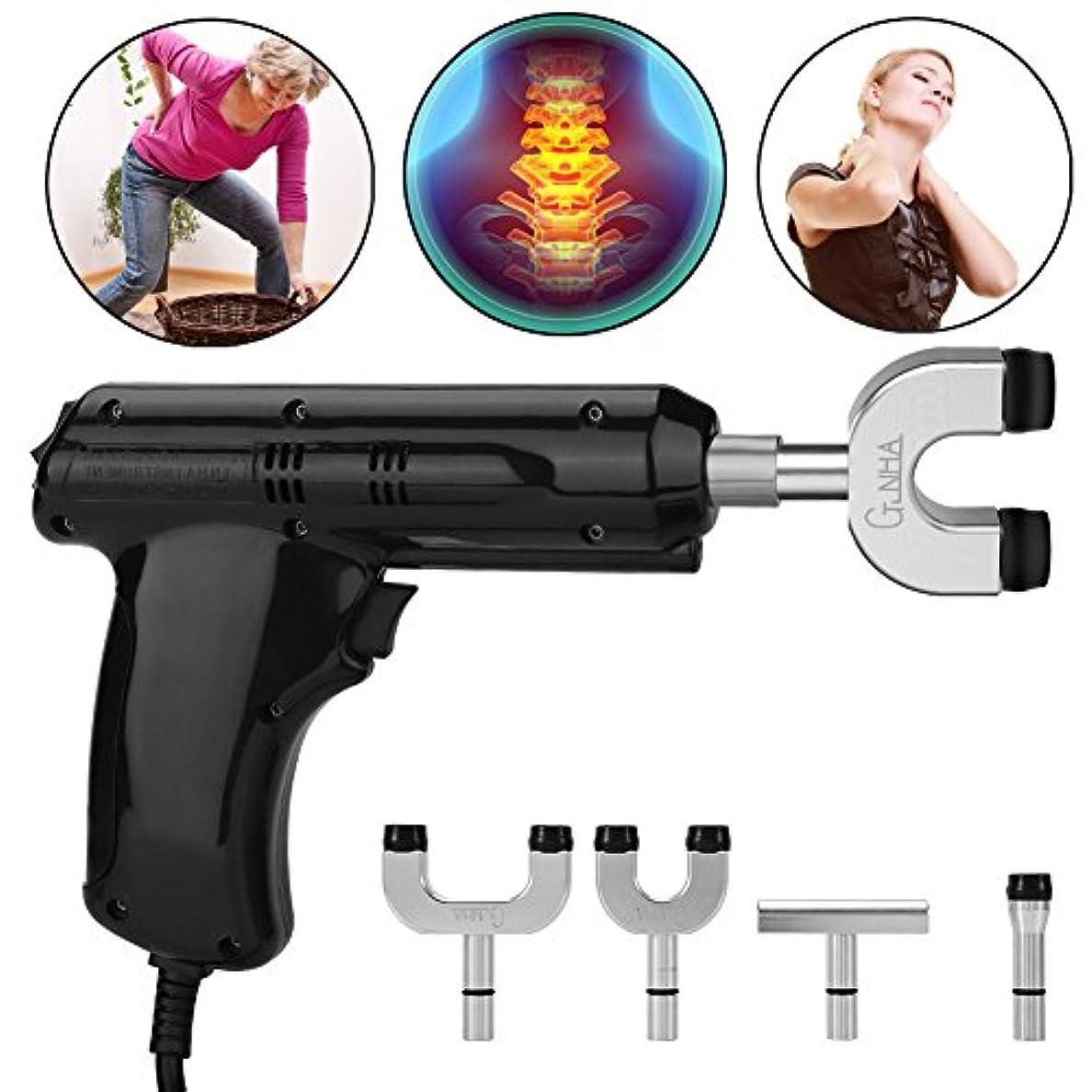 マートきらめく演じる電動カイロプラクター、カイロプラクター、背骨と胸郭を調整するための身体緩和ツール、黒