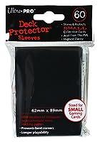 UltraPro デックプロテクターソリッド スリーブ 黒ブラックBlack 60枚入 ミニサイズ 89×62mm